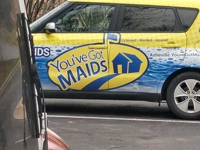 design fail - Vehicle - IDS Licensed-Bonded- Insured You've Got MAIDS/ Asheville.YouveGotMai