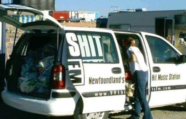 design fail - Motor vehicle - SHIT Newfoundlands Hit Music Station Istm.com www.991hi FM