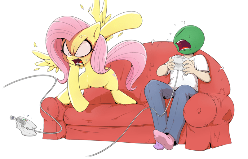 anonymous fluttershy shouting is fun - 9282447616