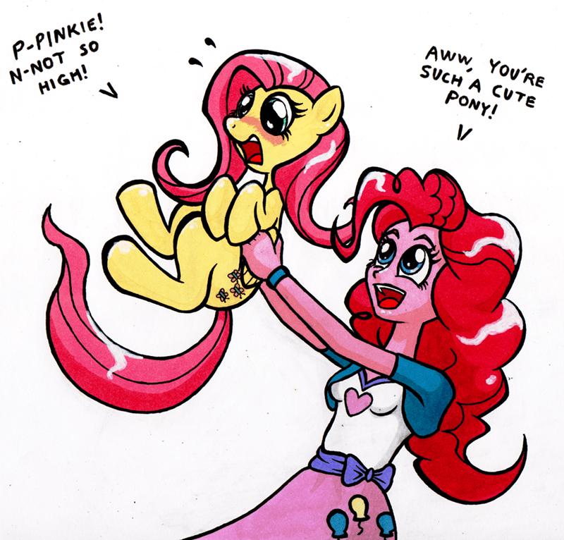 equestria girls bantam pinkie pie fluttershy - 9282780672