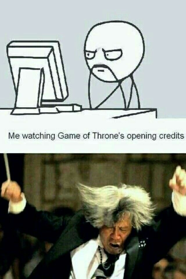 Game of Thrones shitpost about the theme song being epic