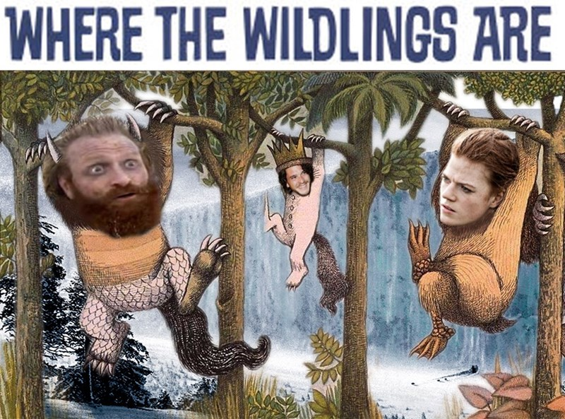 Game of Thrones shitpost about the Northmen as the monsters from Where the Wildings Are