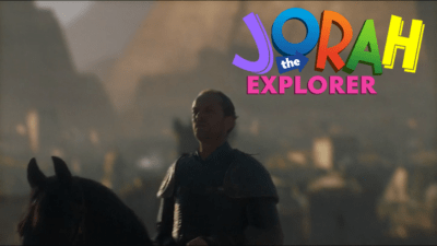 Game of Thrones shitpost with Jorah as Dora the Explorer
