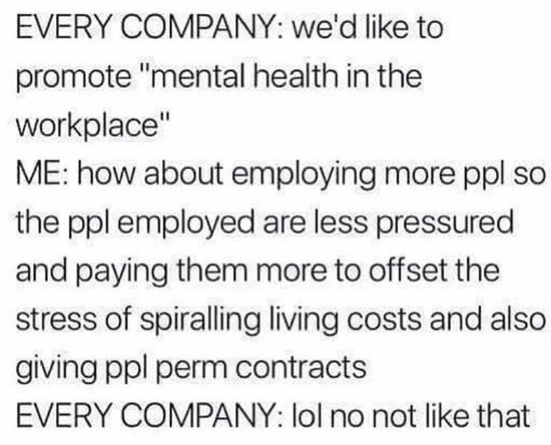monday meme about companies exploiting workers