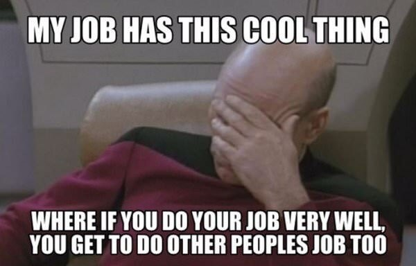 monday meme about being given other people's work