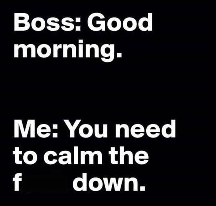 monday meme about being aggressive in the morning