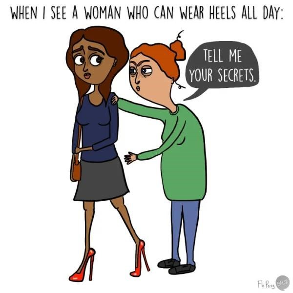 adulting memes - adulting meme about wearing heels