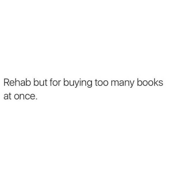 adulting meme about buying too many books