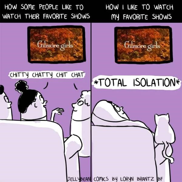 adulting meme about watching tv in silence