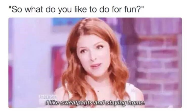 adulting meme about wanting to stay home