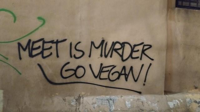 Font - MEET IS MURDER GO VEGAN!