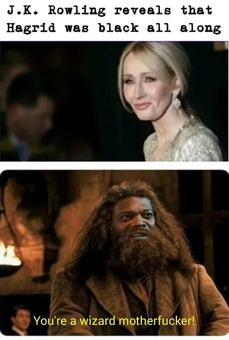 monday meme of Hagrid played by Samuel L Jackson