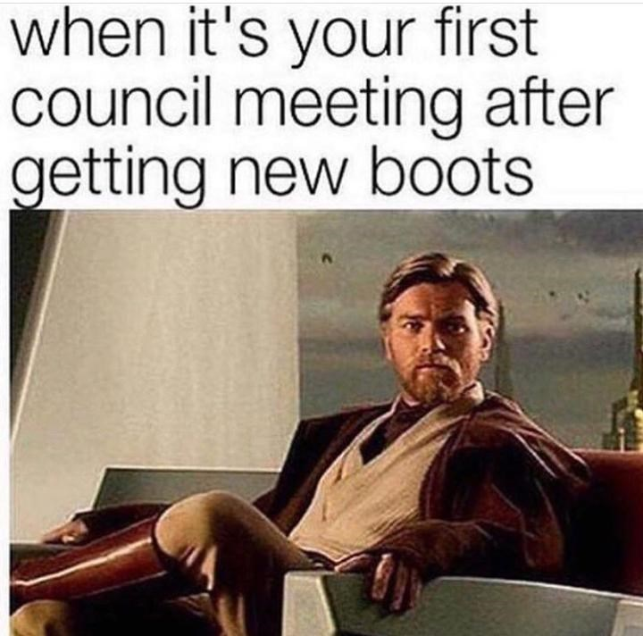 monday meme about Obi Wan showing off his boots