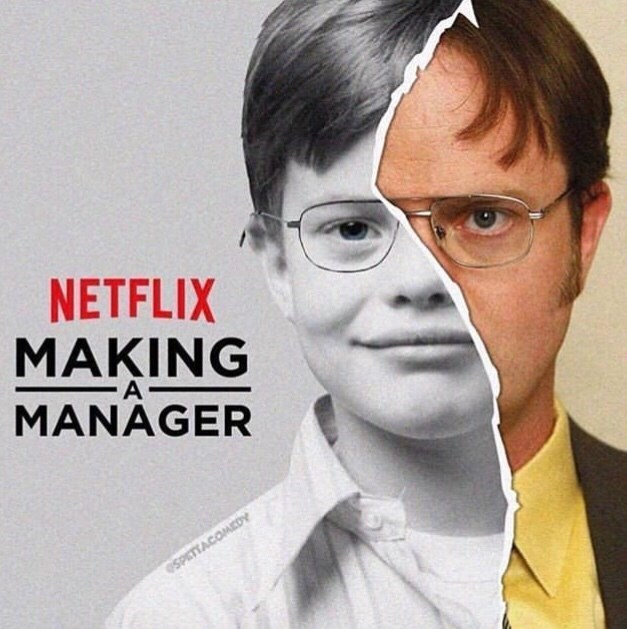 "monday meme of a ""making a murderer"" parody about Dwight from The Office"