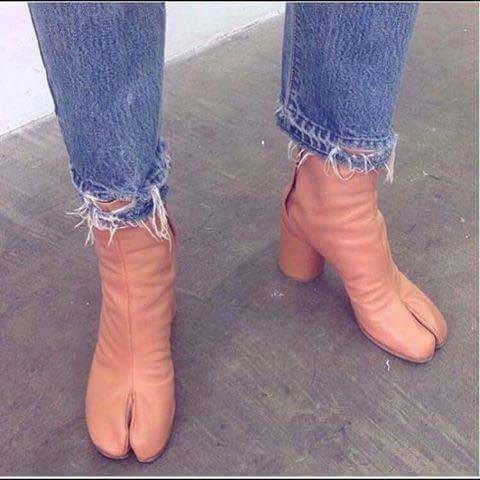 cringey meme with hooves shaped boots