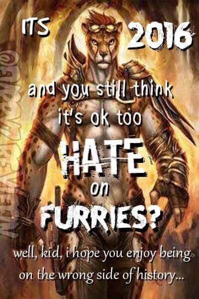 cringey meme about furry acceptance in 2016