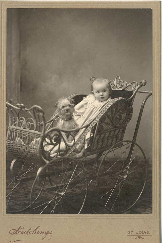 vintage kids and pets - Stock photography - elas Aindehings ST. LOUIS.