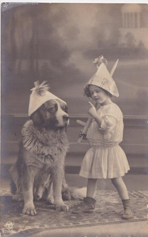 vintage kids and pets - Photograph - todacoleccion.netT 6016015