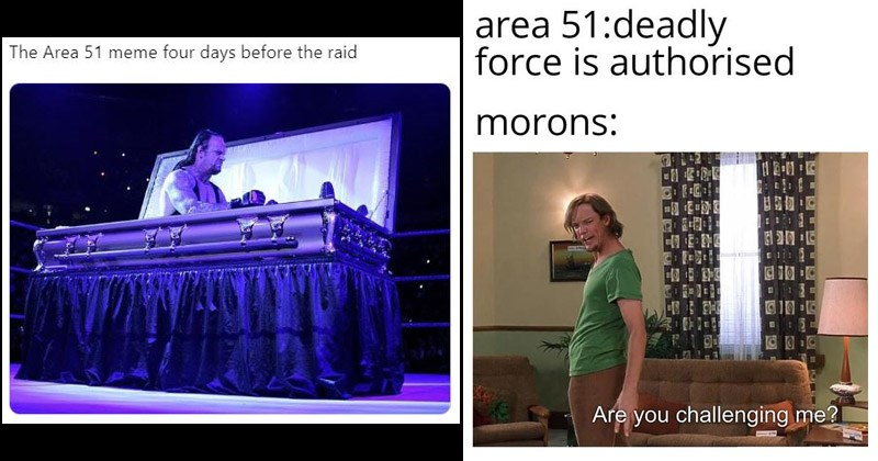 Funny dank memes about storming Area 51