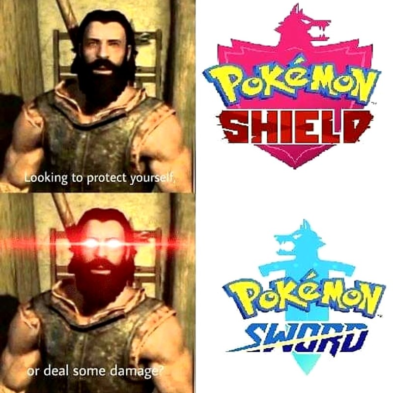 dank meme - Hero - POKEMON SHIELP Looking to protect yourself Pkeman SHORD or deal some damage