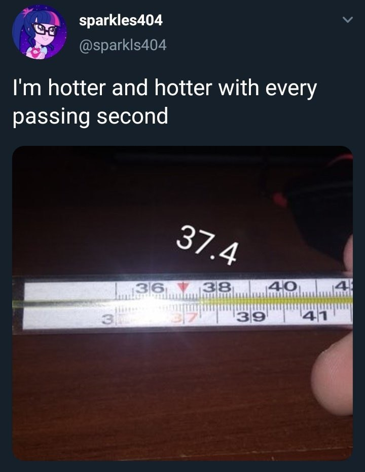 monday meme with a thermometer going up