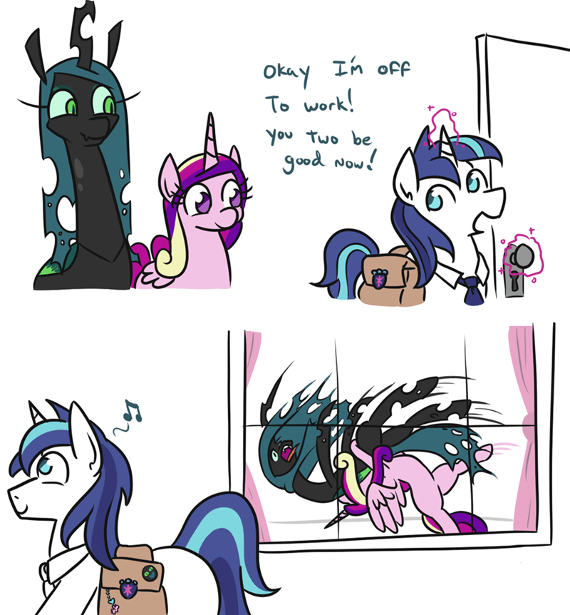jargwell prescott princess cadence shining armor chrysalis comic changelings - 9284994048