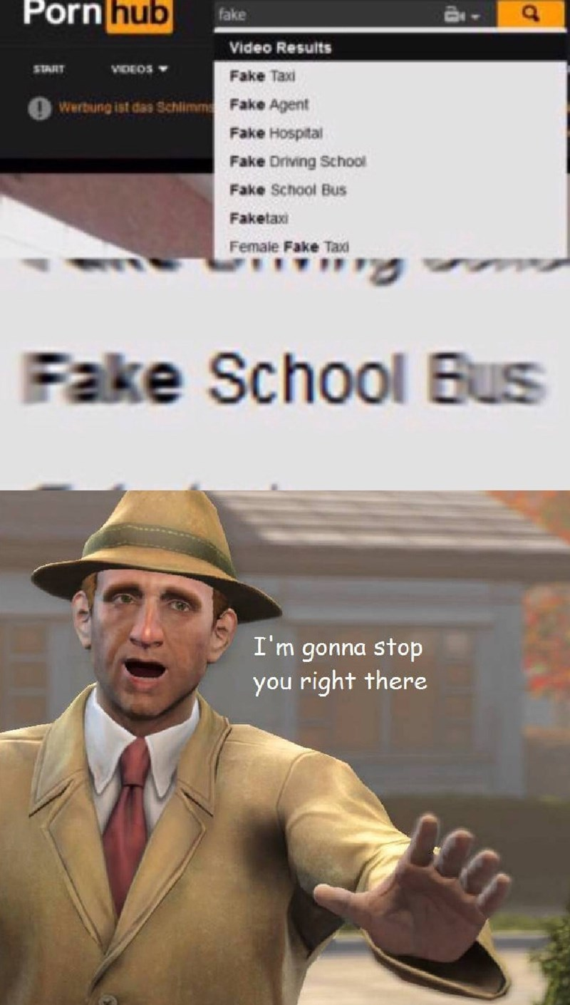 """fallout meme with the """"i'm gonna stop you right there guy"""" reacting to looking up child porn"""