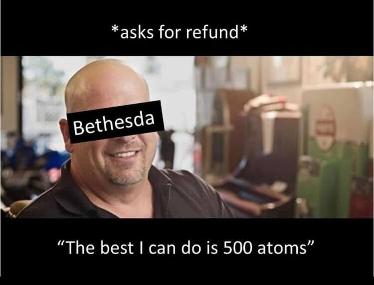 fallout meme about not giving refunds