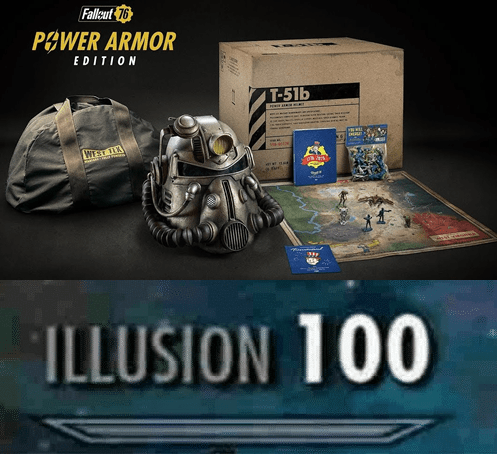 fallout meme about the bag in the Power Armor edition being a disappointment