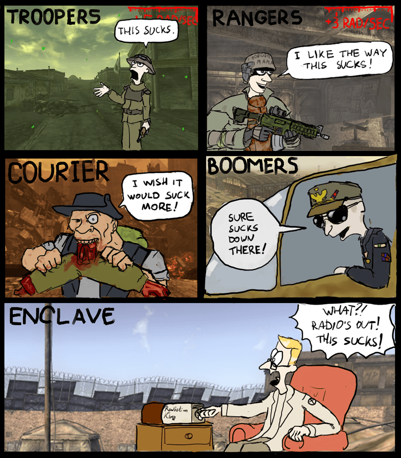 fallout meme about different classes