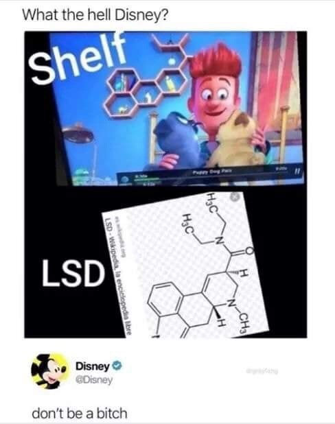 meme about hidden messages in a Disney movie