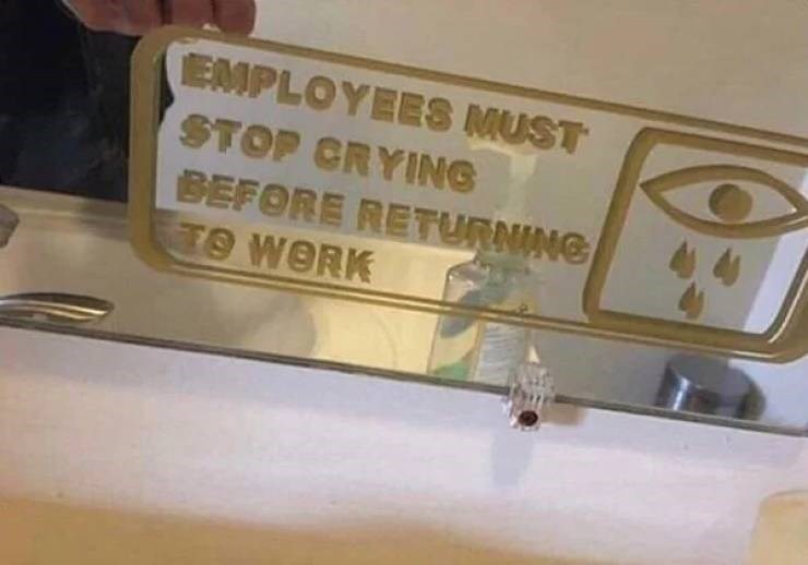 Automotive exterior - EMPLOYEES MUST STOP CRYING BEFORE RETURNING TO WORK