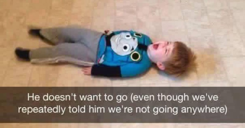 A collection of images showing kids being difficult and emotional little monsters.