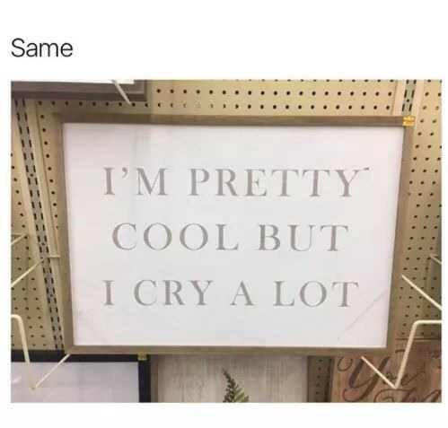 Text - Same I'M PRETTY COOL BUT I CRY A LOT