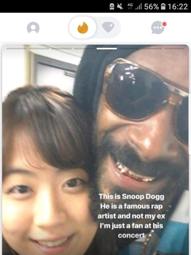 picture This is Snoop Dogg He is a famous rap artist and not my ex I'm just a fan at his concert