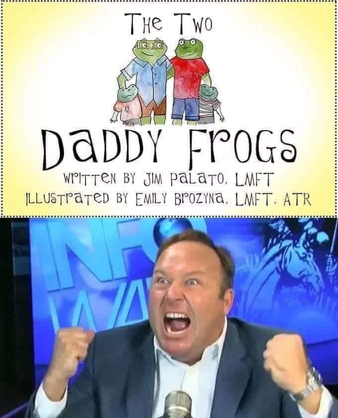 Cartoon - THe TWo DADDY FPOGS WPITTEN BY JI paLaTo, LMFT LLUSTPATED BY EMILY BPOZYNa, LMFT. ATR
