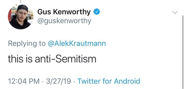 tweet by person calling bagel slicing anti semitic