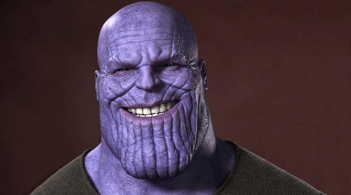 A picture of Marvel's most notorious villain, Thanos.