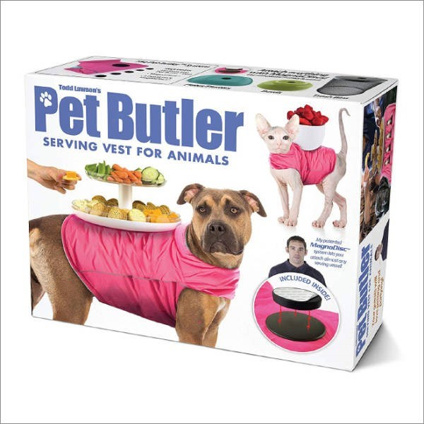 Canidae - Todd Lawson's Pet Butler SERVING VEST FOR ANIMALS Myped MagnoDisc ytenets you oh distoy sevingel ONCLUDED INSIDE