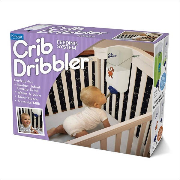Product - Crib Dribbler Kindex FEEDING SYSTEM Cib Dnboler Perfect for: Kindex Infant Energy Drink Water & Juice Stew/Cocoa Formula/Milk Part of a healthy poincing