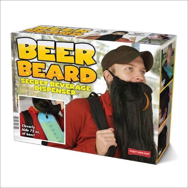 Hair coloring - BEER BEARD SECRET BEVERAGE DISPENSER Cleverly hide 72 oz. of beer! PARTHAR-HAR