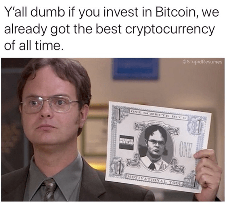dwight cryptocurrency the office memes