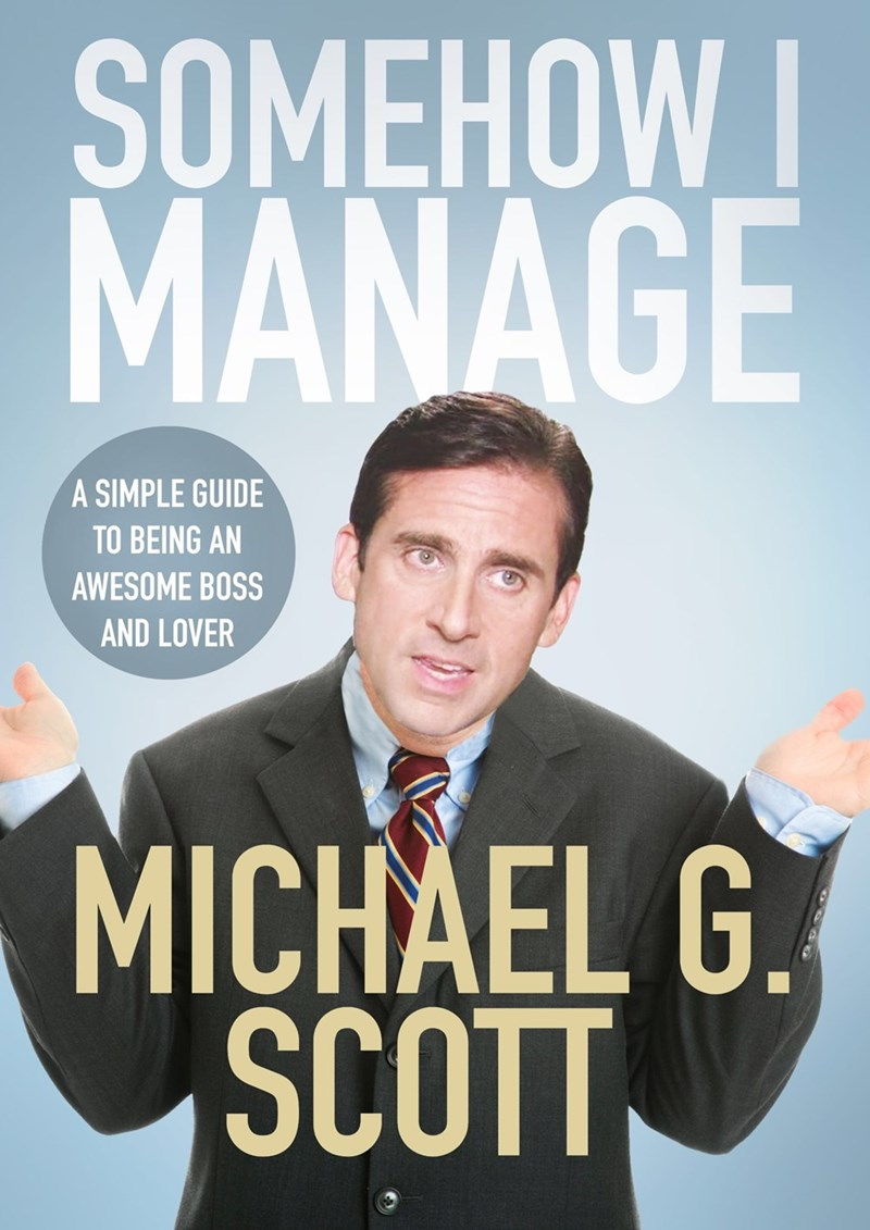 michael book cover somehow i manage the office memes