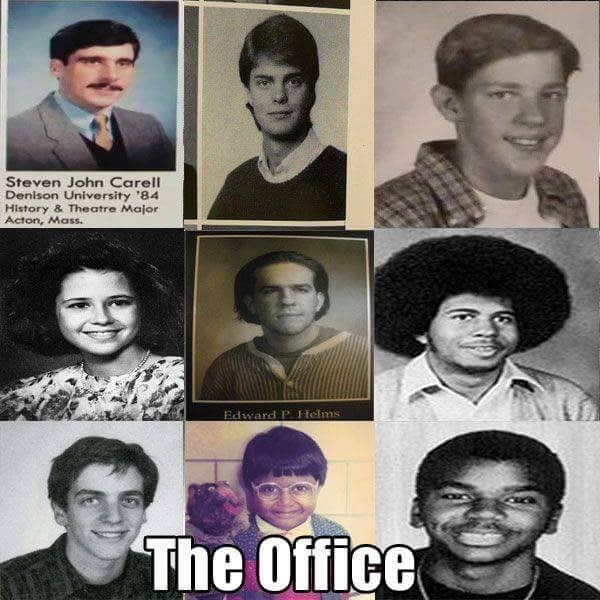 the office people when they were young