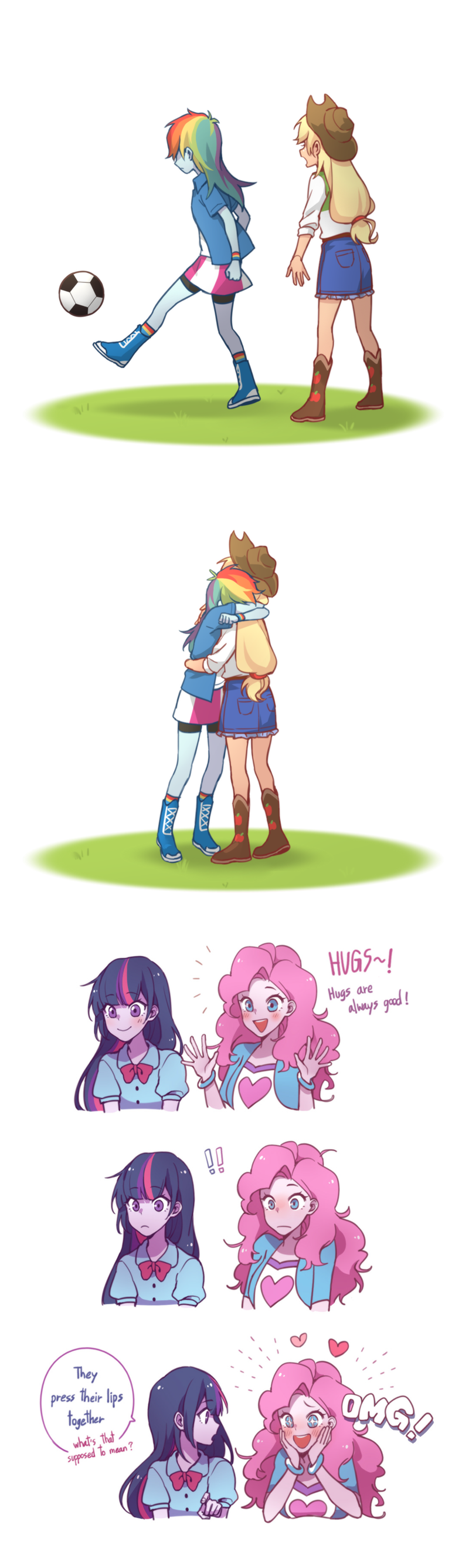 shipping applejack equestria girls twilight sparkle pinkie pie comic dcon rainbow dash - 9287964416