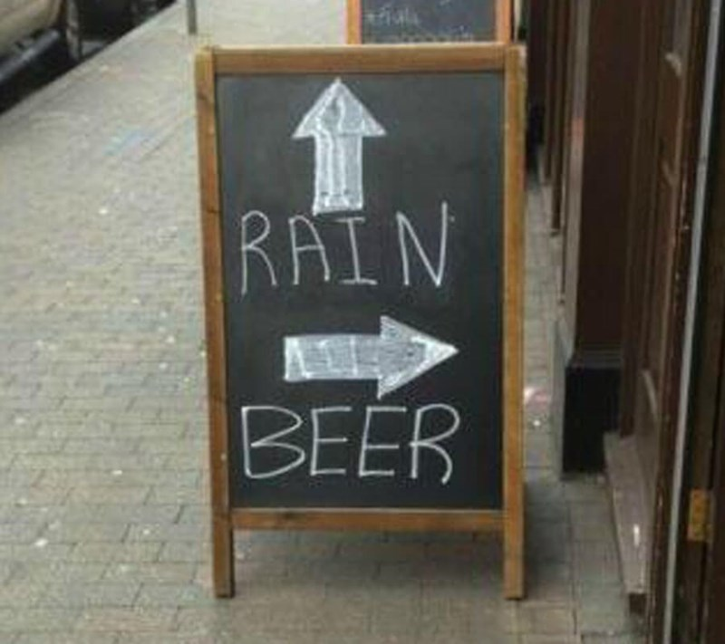 restaurant sign - Blackboard - |RAIN BEER