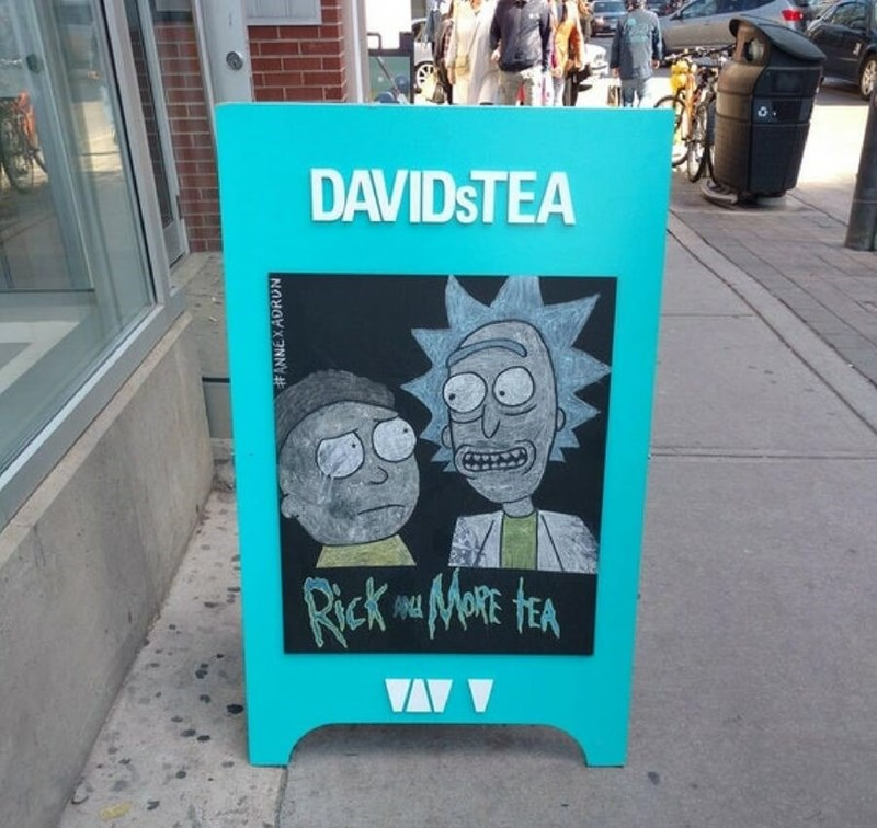 restaurant sign - Text - DAVIDSTEA VA #ANNEXADRUN