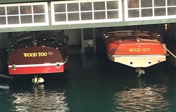 puns - Water transportation - WOOD NOT WOOD TOO