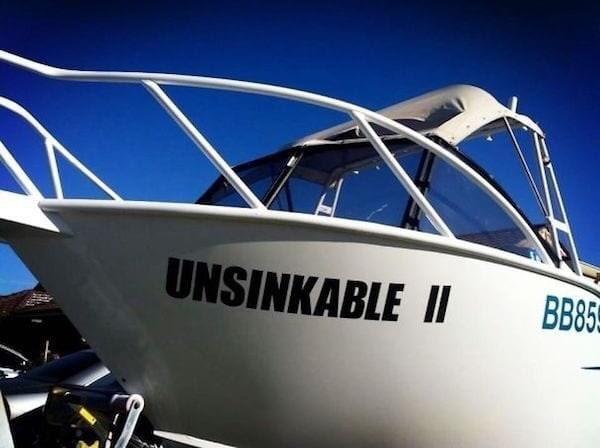 puns - Water transportation - UNSINKABLE II BB85