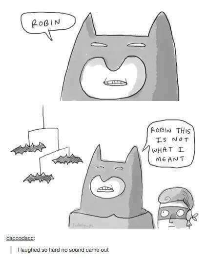 Cartoon - ROBIN ROBIN THIS TS NOT WHAT I MEANT daccodacc: laughed so hard no sound came out